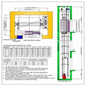 MRL lift layout